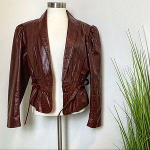 Wilsons Leather | Vintage Burgundy Leather Jacket